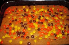 Peanut Butter Reese's Pieces Bars