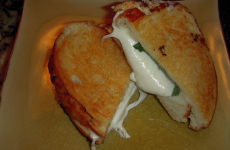 Grilled Mozzarella and Basil