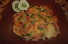 Slow Cooker Cheesy Scalloped Potatoes & Ham
