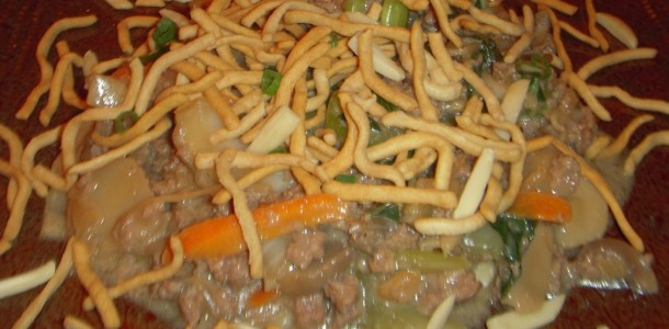 Upside Down Chow Mein