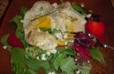 Breakfast Salad with Over Easy Egg's