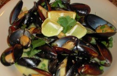 Lemon grass Garlic and Ginger Mussels