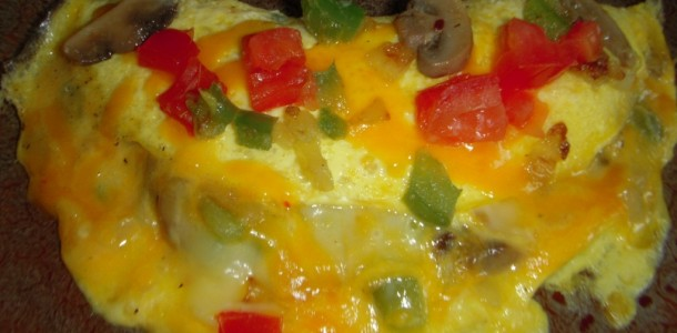 Fried Veggie Omelet
