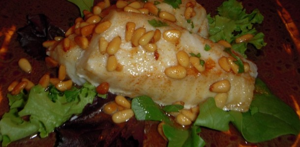 Cod with Brown Butter and Pine Nuts