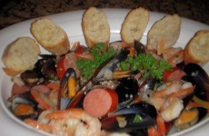 Shrimp and Mussels with Andouille Sausage