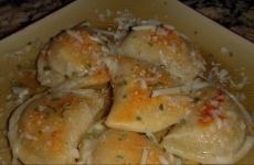 Pierogies in Garlic and Rosemary Brown Butter