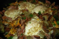 Potato Ham and Peppers Breakfast Skillet
