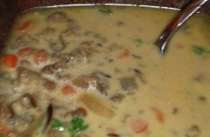 Cheeseburger Wild Rice Soup