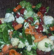 Italian Vegetable and Salami Salad