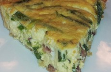 Bacon, Zucchini And Asparagus Quiche