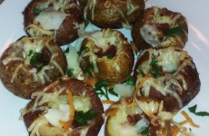Parmesan Garlic Stuffed Potatoes