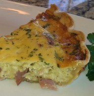 Gruyere and Ham Quiche